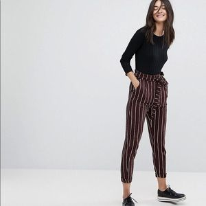 NWOT Navy loose striped pants